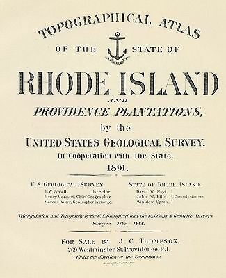 RHODE ISLAND ATLAS map 1891 old GENEALOGY PROVIDENCE history TOWN DVD S25