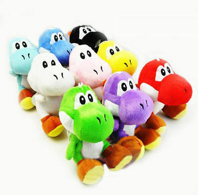 New Super Mario Bros Soft Plush Doll Cute Yoshi Toy 7in Kids Xmas Gifts 8 Colors
