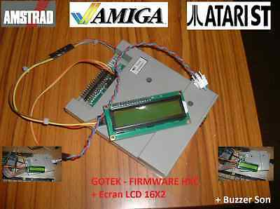 Floppy Emulator HXC for AMSTRAD CPC / AMIGA / ATARI ST with LCD + Buzzer