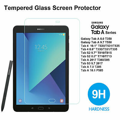 """3x Tempered Glass Screen Protector for Samsung Galaxy Tab 4 10.1"""" 8.0 S2 9.7"""""""