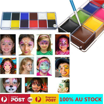 12 Color  Flash Tattoo Face Body Paint Oil Painting Art Make Up Halloween Party