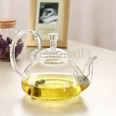Heat Resistant Glass Teapot with Infuser Coffee Flower Tea Leaf Herbal Pot New