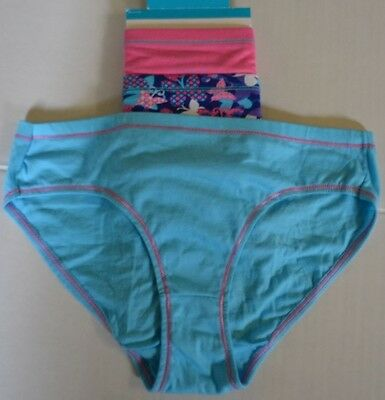 Girls Underwear Size 14 Hanes Premium Hipsters Multi Color New 3 Pairs