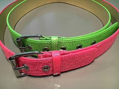Girls Belts Justice Sparkly Lot of 2) Pink Green Size Small & Medium