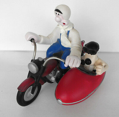 RARE WALLACE AND GROMIT on the sidecar PVC figure Euromark UK 1989