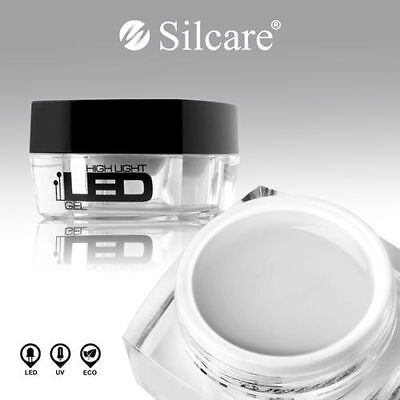SILCARE HIGH LIGHT LED NAIL GEL - CLEAR  15g 30g tips builder one step polish