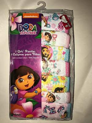 Brand New In Package Dora The Explorer Girls 6 Pack Panties - Size 6