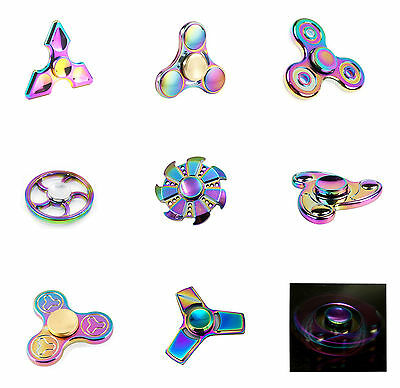 Rainbow Tri-Fidget Hand Finger Spinner ADHD Focus  For  Adults Autism