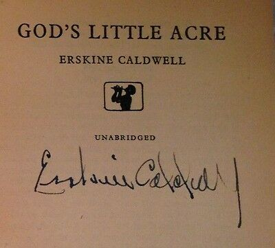 Erskine Caldwell - God's Little Acre - 1959 - SIGNED BY AUTHOR