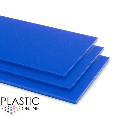 Mid Blue Colour Perspex Acrylic Sheet Plastic Material Panel Cut to Size