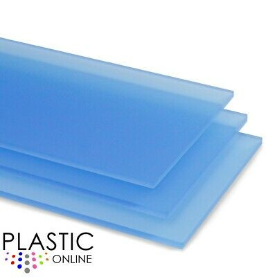 Blue Matt Frost Colour Perspex Acrylic Sheet Plastic Material Panel Cut to Size