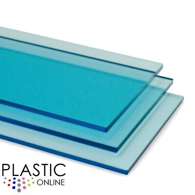 Light Blue Tint Perspex Acrylic Sheet Colour Plastic Panel Material Cut to Size