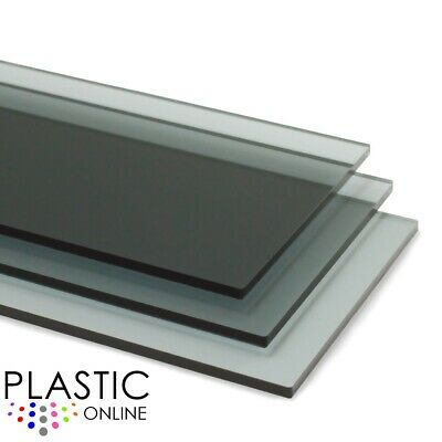 Light Grey Tint Perspex Acrylic Sheet Colour Plastic Panel Material Cut to Size