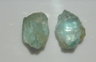 Aquamarine 47.50 Ct  Blue / Green Rough I1, For Jewels / Collection 2-Pcs A093