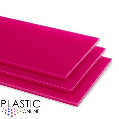 Pink Colour Perspex Acrylic Sheet Plastic Material Panel Cut to Size