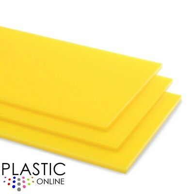 Yellow Colour Perspex Acrylic Sheet Plastic Material Panel Cut to Size