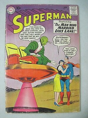 Superman #136 April 1960 Dc Comics 1St Appearance Of X-Plam From The Future 2360