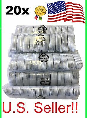 20x OEM Apple iPhone 7 Plus 6S 5 Lightning Charger Cable Charging Data Sync Cord