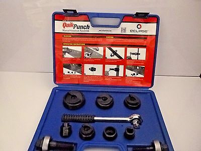 "New Eclipse Quik Punch, 1/2""- 2"" Manual Knockout Punch Kit, Type C Die  902-481"