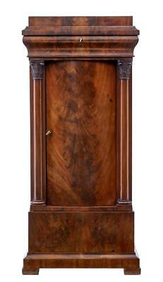 19Th Century Biedermeier Flame Mahogany Small Cabinet
