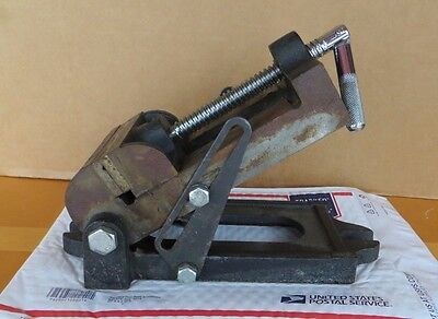 "Vintage Machinist Drill Press Angle Vise Base 4 1/2"" Jaws"