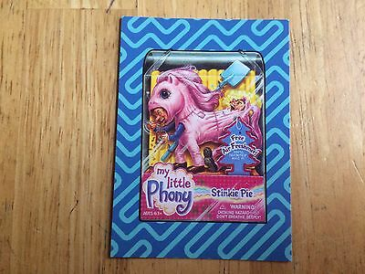 2017 WACKY PACKAGES 50TH ANNIVERSARY BEST OF THE '00s STICKER MY LITTLE PHONY 2
