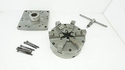"""6"""" BUCK CHUCK (6 JAW) With Key & Mounting Adapter ~ FREE SHIP"""