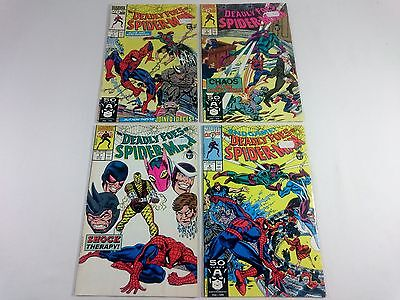 MARVEL COMICS - The Deadly Foes of Spiderman 1 2 3 4 - 1990s