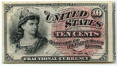 1863 10 Ten Cent Fractional U.S. Note / Currency - JX180