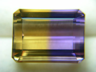 12.3ct Ametrine Gemstone Unheated Untreated gem Bolivia Amethyst Citrine Bicolor
