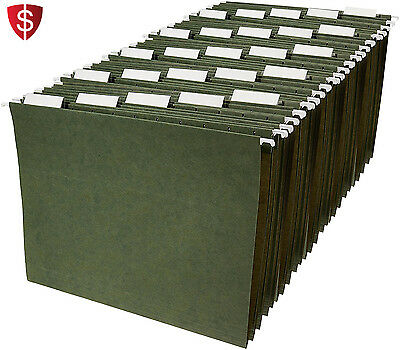 Letter Size Hanging File Folders Sorting Cabinet Convenient Green Clear 25 Pack