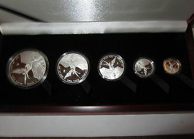 2009 Mexican Mint Libertad 5 Coin Silver Proof Set in Box