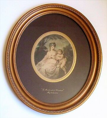 Framed print, 1798, Cheesman after Angelica Kaufmann, Marchioness of Townshend