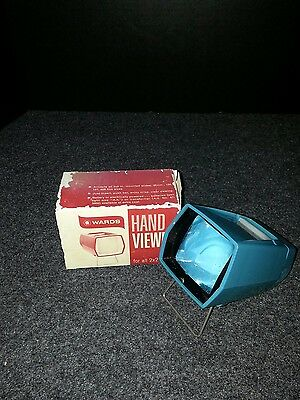 Vintage Wards Hand Viewer For 2 x 2 Slides Complete With Original Box