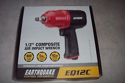 "Earthquake Central Pneumatic  EQ12C 1/2"" composite air impact wrench, NEW"