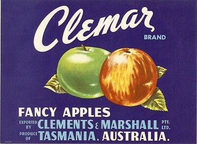Trader's Pack A- 24 Original Tasmanian Apple Box Labels Fruit Wall Art Poster