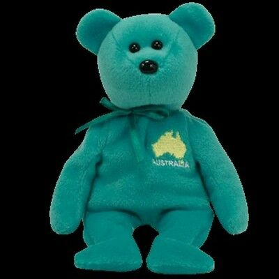 "Ty Beanie Babies Asia Pacific Exclusive Maps ""down Under"" Australia Mwmt"