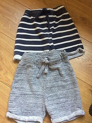 Two pairs of boys Next summer / holiday shorts aged 2-3 years