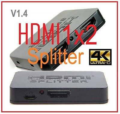 New HDMI splitter for  PC HDTV 1 in 2 out 1080P  1x2 HDMI Splitter