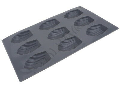 Moule Silicone 9 Madeleines 6,5cm Anti-adhérent