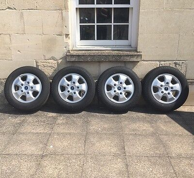 "Set of 4 genuine ford transit custom 16"" alloy wheels with new tyres"