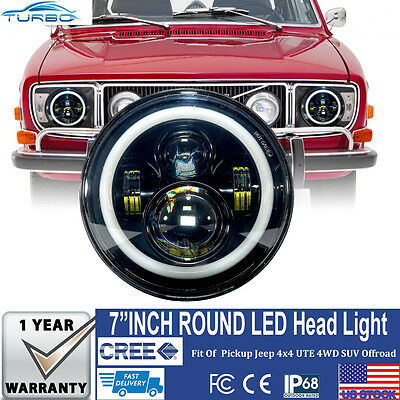2x Led Projector Headlight fits 1967-1980 Volvo 142 144 145 242 1800 Old Model