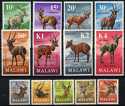 Malawi 1971-75 SG#375-387 Antelopes Definitives MNH Set #D42717