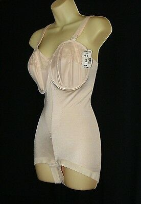 Vintage NWT 40C Goddess Beige All In One Girdle  Wide Gusset cd sis