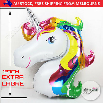 "50"" Giant Unicorn Foil Balloon Toy Helium Float Birthday Party Decorations Gift"