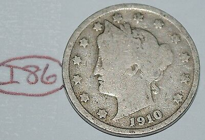 United States 1910 Liberty Head Nickel USA 5 Cents Coin Lot #I86