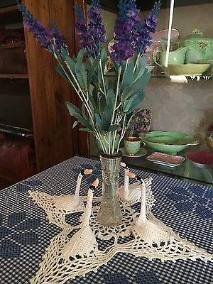 Vintage 3 Dimensional Swan Doily Crochet Table Napery Centrepiece