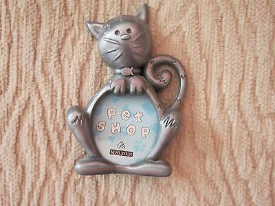 "Pewter ""cat"" picture frame from ""Pet Shop"" by Malden"