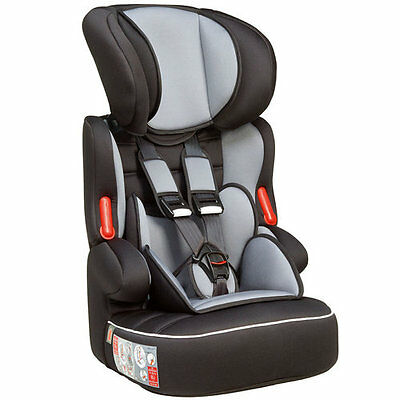 SALE! Nania Beline SP LUXE Grp 1 2 3 Car Seat and High Back Booster Black/Grey
