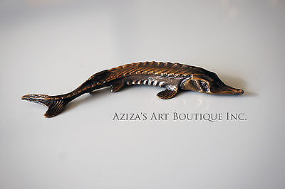 Solid Bronze Sturgeon miniature by N.Fedosov.